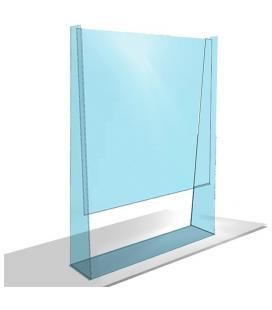 MAMPARA PROTECTORA APPROX APPAPSSTAND - 1100*800MM - METACRILATO TRANSPARENTE - VENTANA 300*800MM (ALTURA*ANCHURA)
